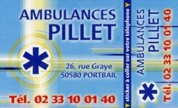 Ambulances  Denis PILLET 02 33 10 01 40